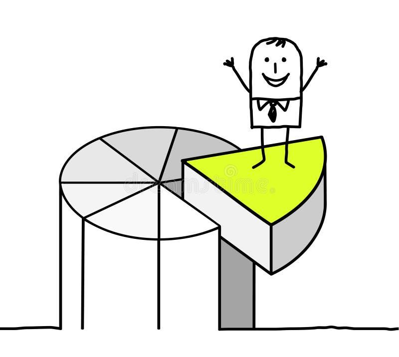 Negócio e carta de torta ilustração stock