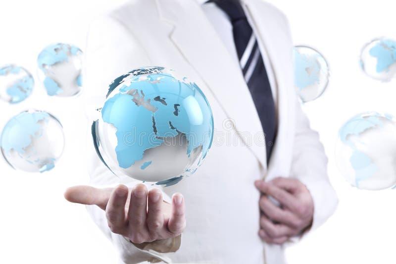 Negócio e conceito do Internet ilustração do vetor