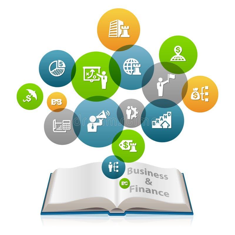 Negócio e conhecimento financeiro ilustração do vetor