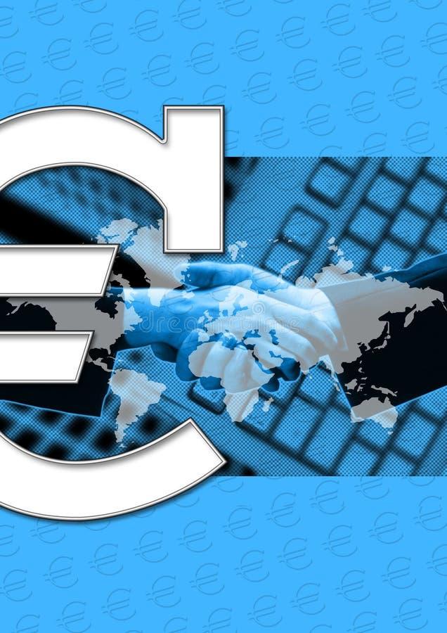 Negócio E Euro- Sinal Fotos de Stock