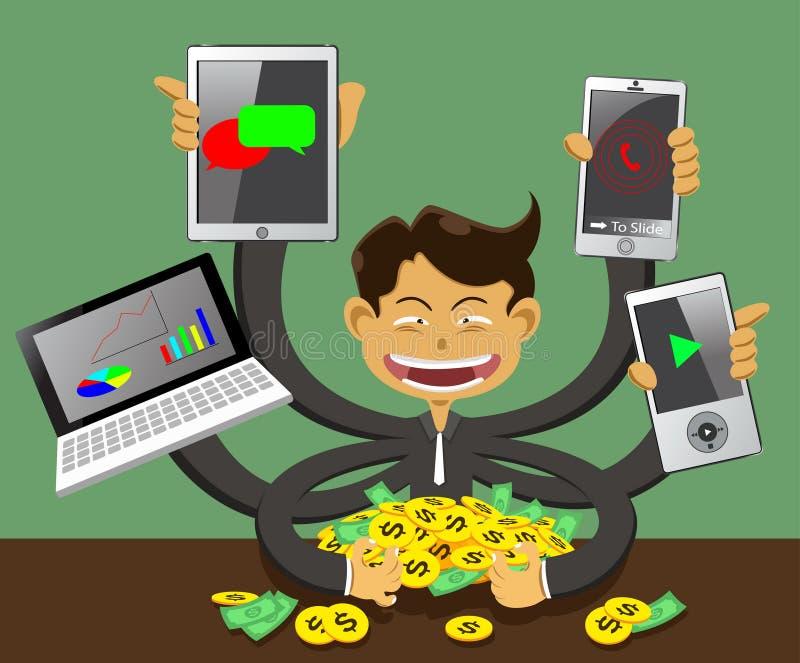 Negócio e finança do sucesso ilustração stock