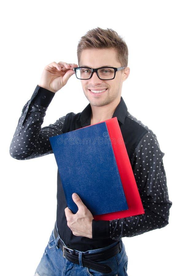 Negócio e finança Estudante feliz novo foto de stock royalty free