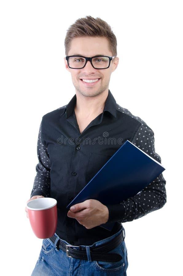 Negócio e finança Estudante feliz novo imagens de stock