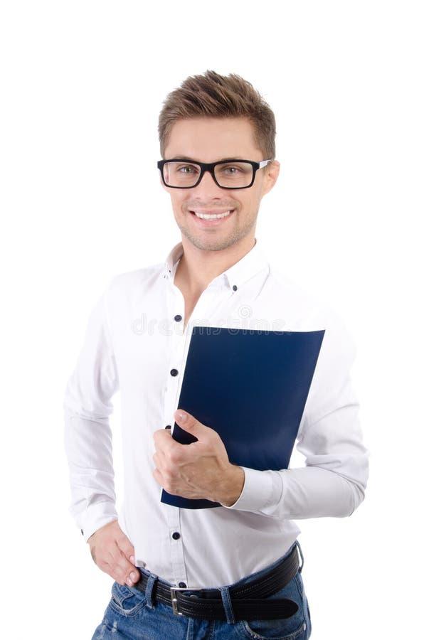 Negócio e finança Estudante feliz novo fotografia de stock royalty free