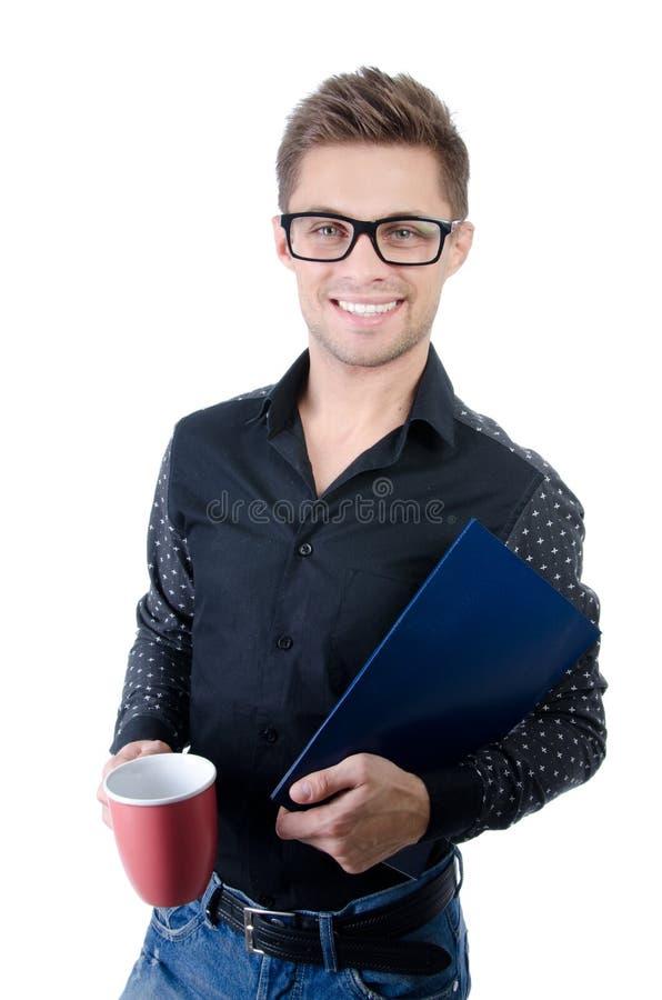 Negócio e finança Estudante feliz novo fotos de stock