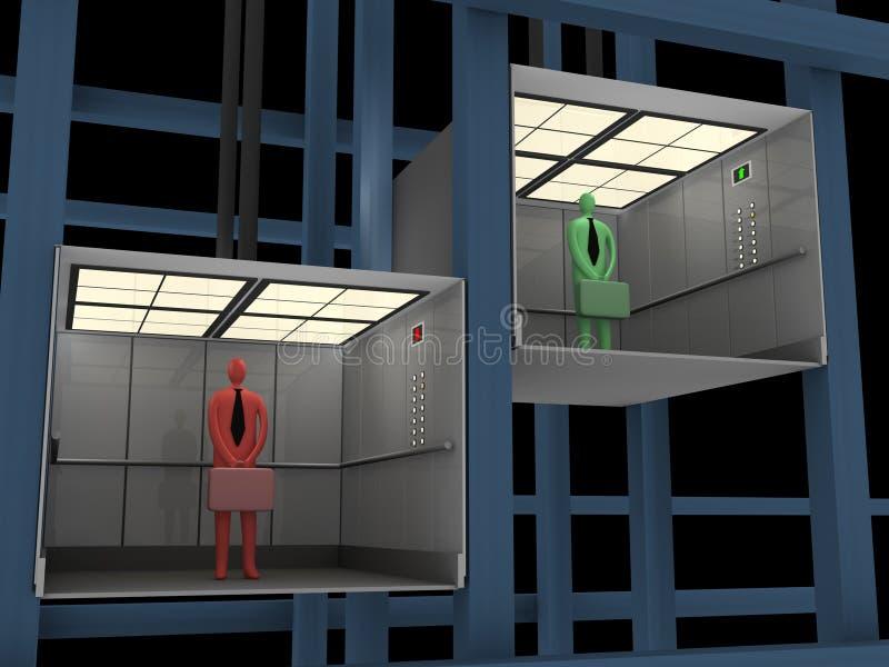 Negócio - elevador ilustração stock