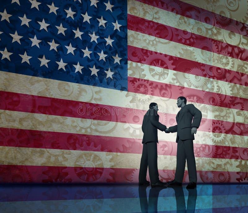 Negócio em América ilustração royalty free