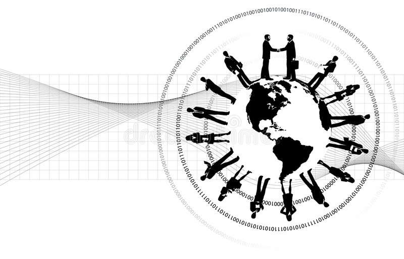 Negócio em torno do mundo ilustração do vetor