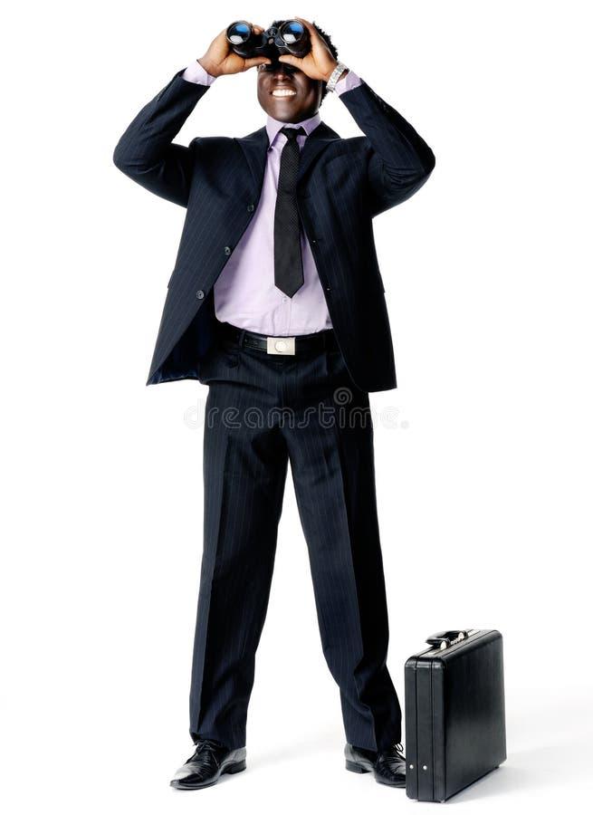 Negócio emergente preto imagens de stock