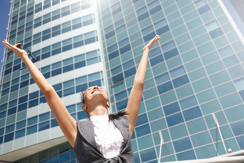 Negócio feliz foto de stock royalty free