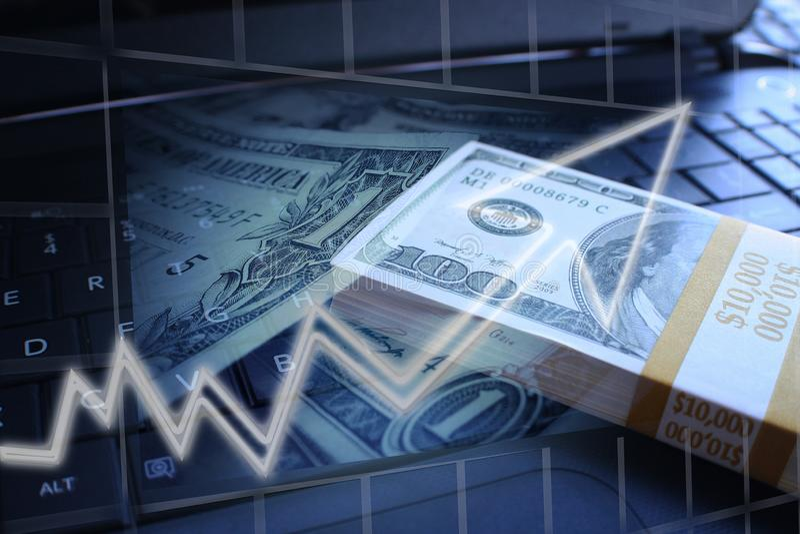 Negócio & finança que representam o investimento em linha ilustração do vetor