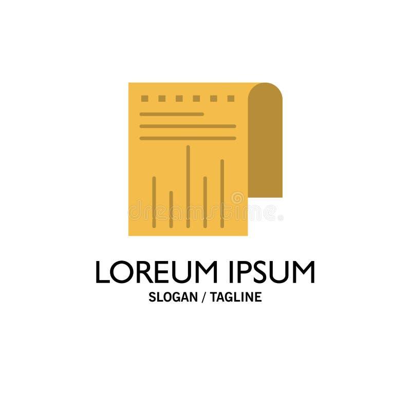 Negócio, financeiro, moderno, negócio Logo Template do relatório cor lisa ilustração royalty free