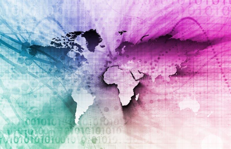 Negócio global ilustração royalty free