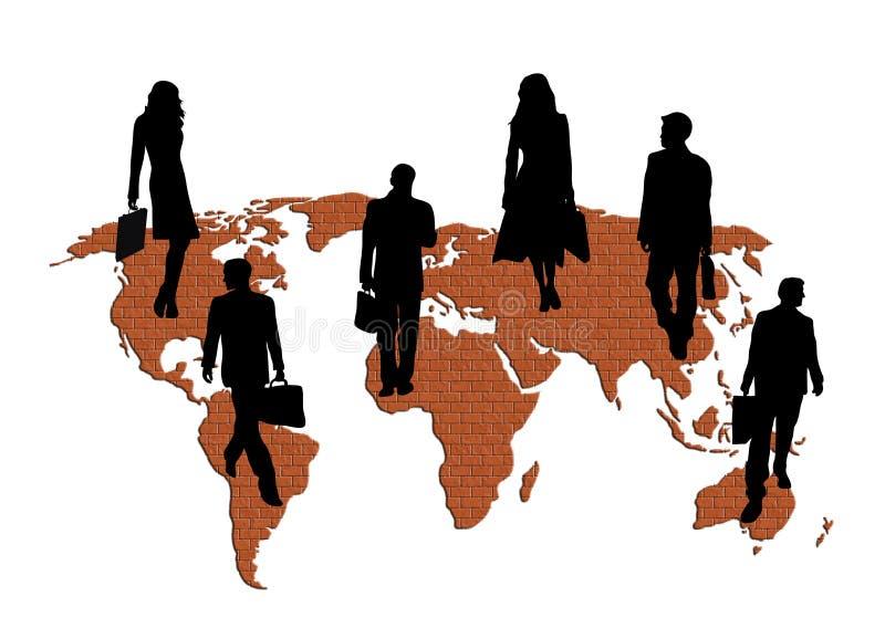 Negócio global de construção ilustração do vetor
