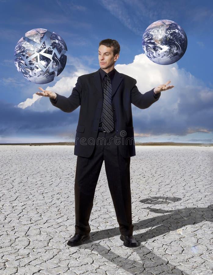 Negócio global de equilíbrio imagens de stock