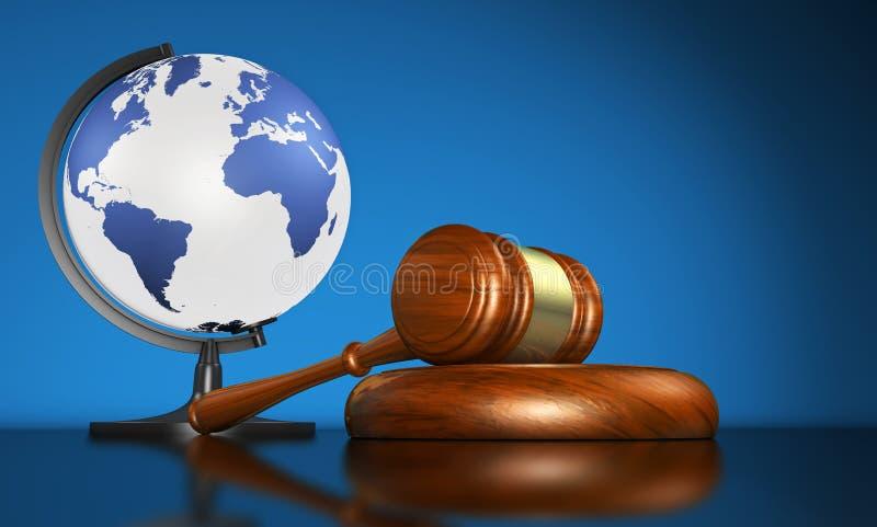 Negócio global de And International Law de justiça ilustração royalty free