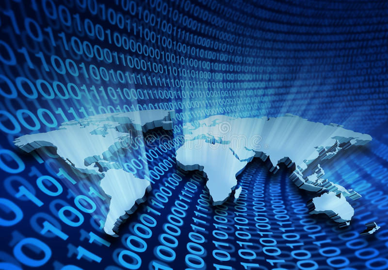 Negócio global do Internet ilustração do vetor
