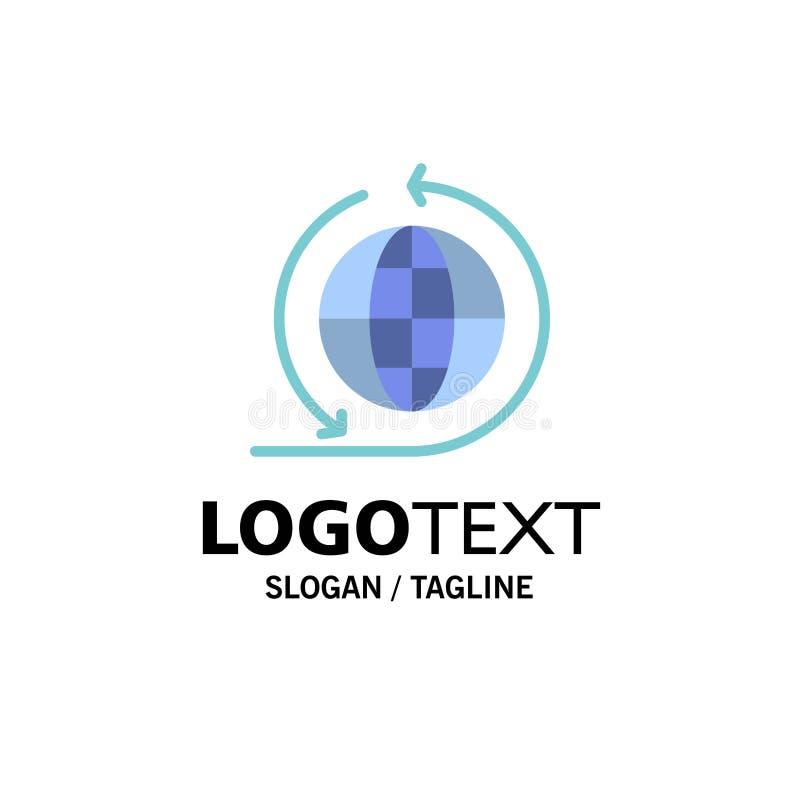Negócio global, rede do negócio, negócio global Logo Template cor lisa ilustração do vetor