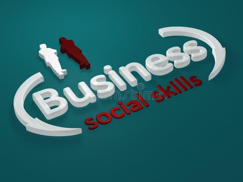 Negócio - habilidades sociais - letra ilustração royalty free