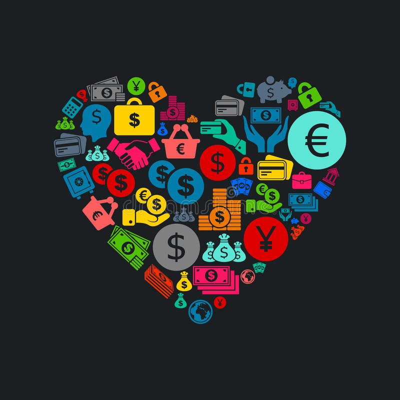 Negócio heart3 ilustração royalty free