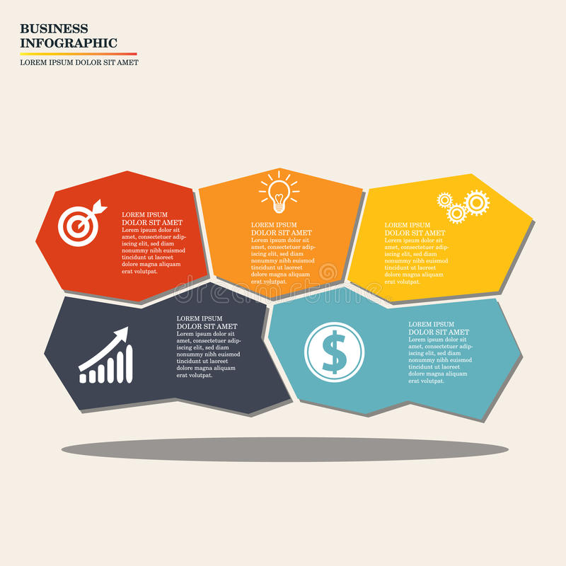 Negócio Infographic ilustração stock