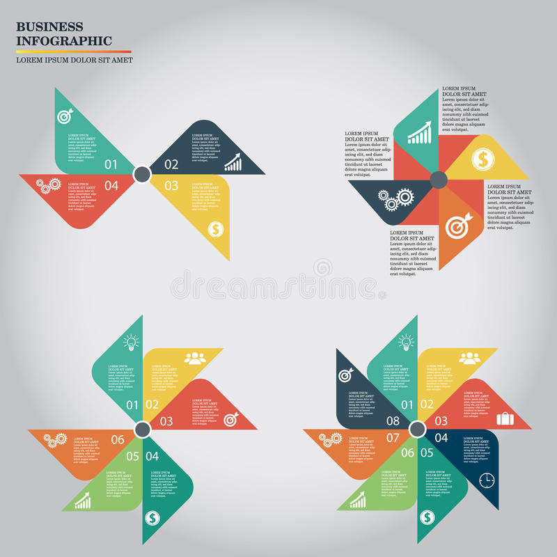 Negócio Infographic ilustração royalty free
