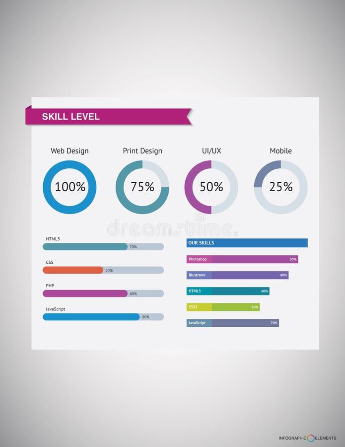 Negócio Infographic fotografia de stock royalty free