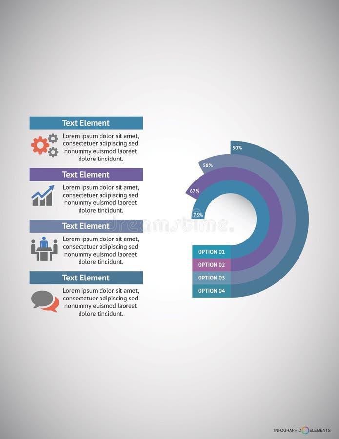Negócio Infographic fotografia de stock