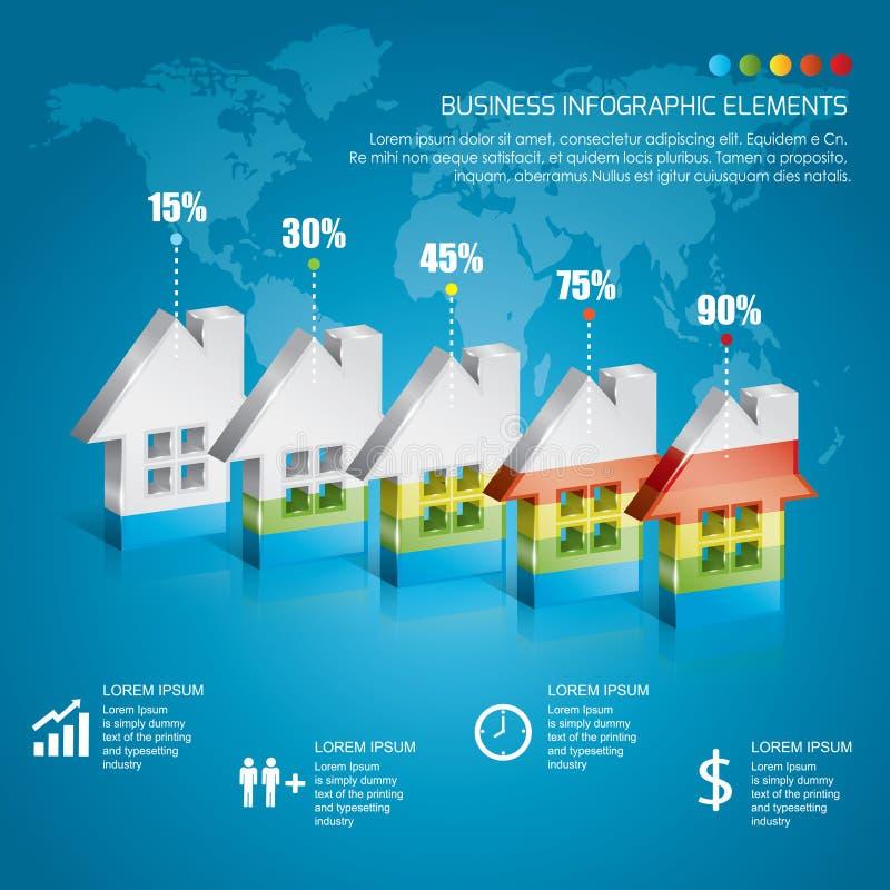 Negócio Infographic foto de stock