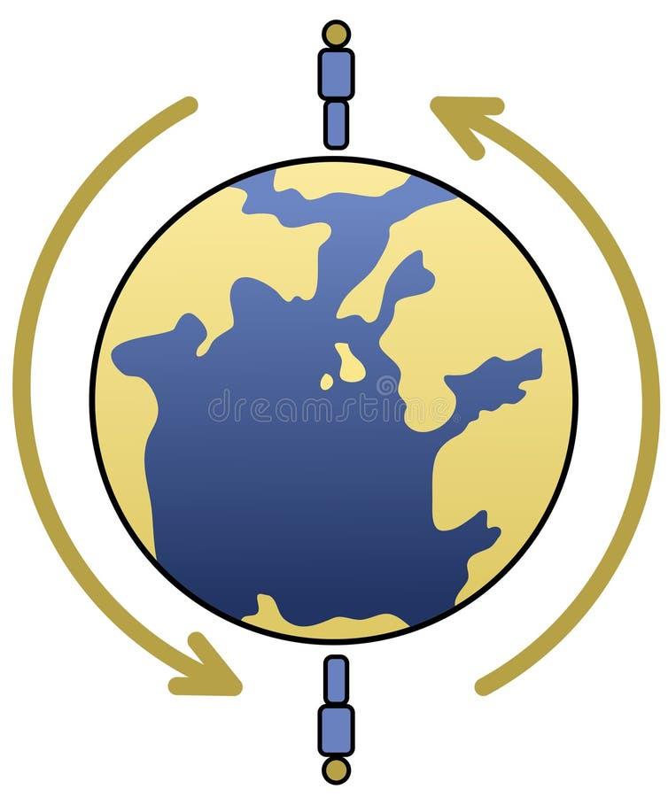 Negócio internacional ilustração do vetor