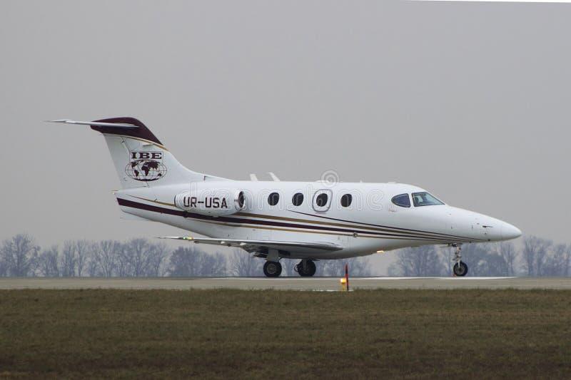 Negócio Jet Hawker Beechcraft Premier IA imagem de stock royalty free