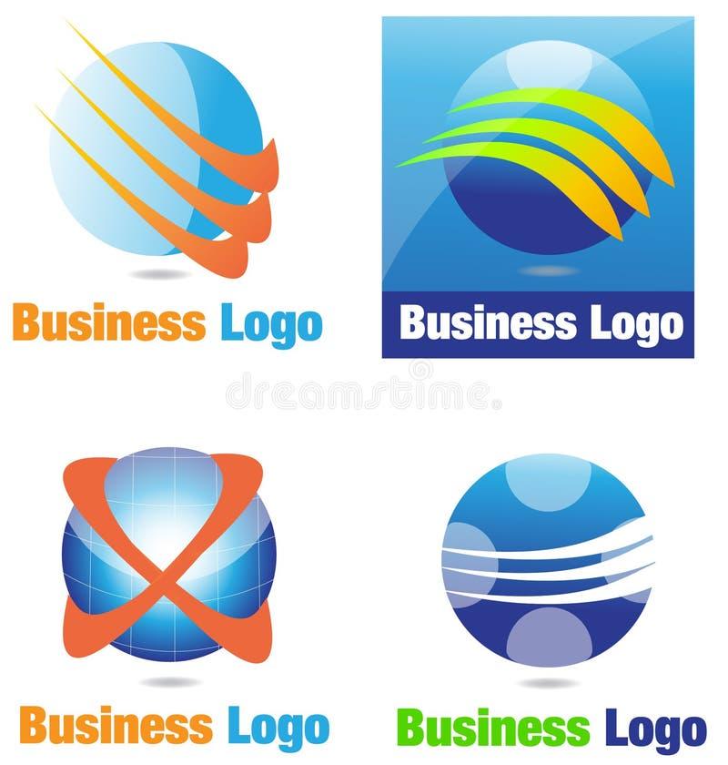 Negócio Logo Sphere ilustração do vetor