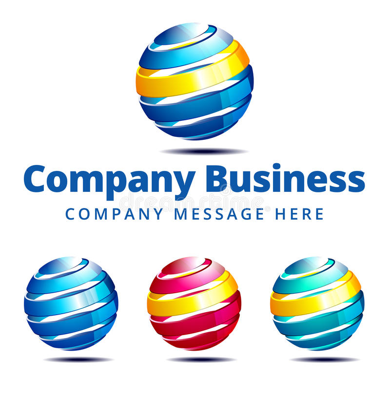 Negócio Logo Symbol de Global Empresa ilustração royalty free