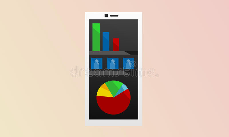 Negócio móvel Smartphone imagem de stock