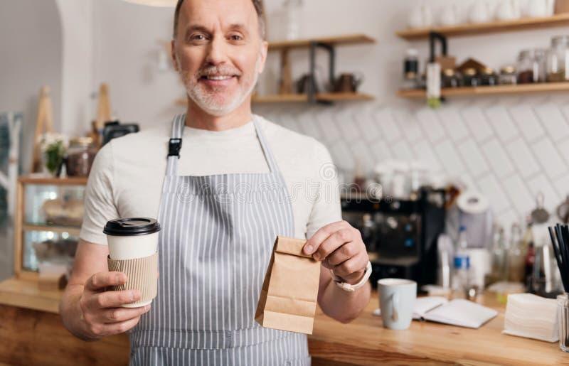 Negócio moderno do café imagem de stock