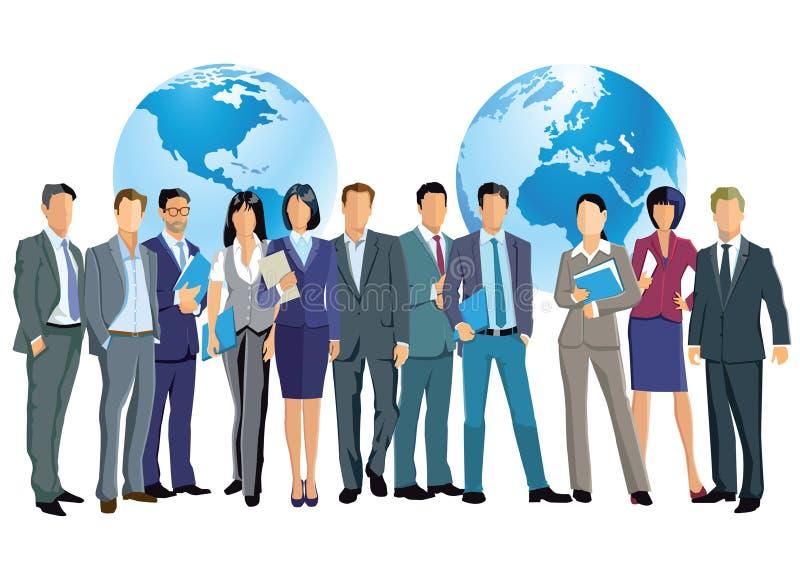 Negócio mundial ilustração royalty free