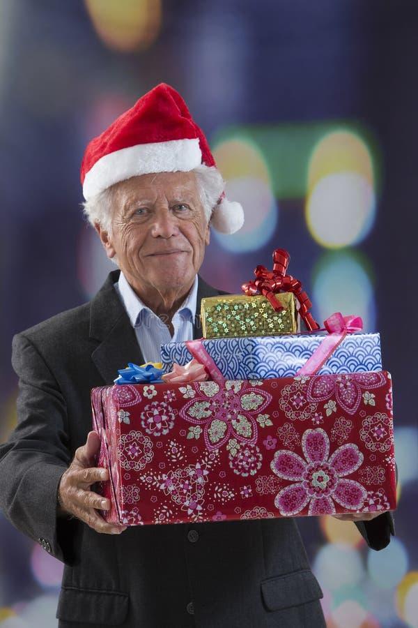 Negócio, Natal, conceito da felicidade imagens de stock royalty free
