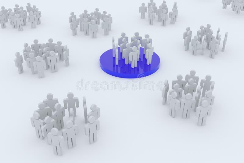 Negócio ou rede social ilustração do vetor