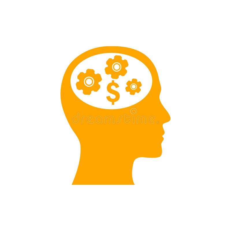 negócio, para tornar-se, ajustando-se, inovação, ícone alaranjado da cor da gestão criativa da ideia ilustração royalty free
