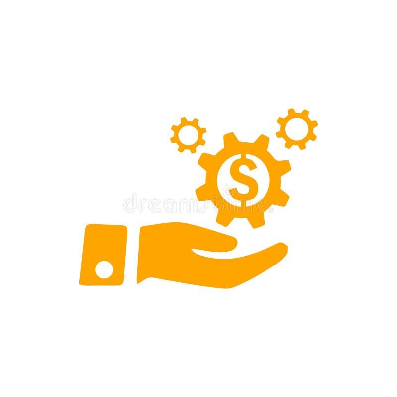 negócio, para tornar-se, ajustando-se, inovação, ícone alaranjado da cor da gestão criativa da ideia ilustração do vetor