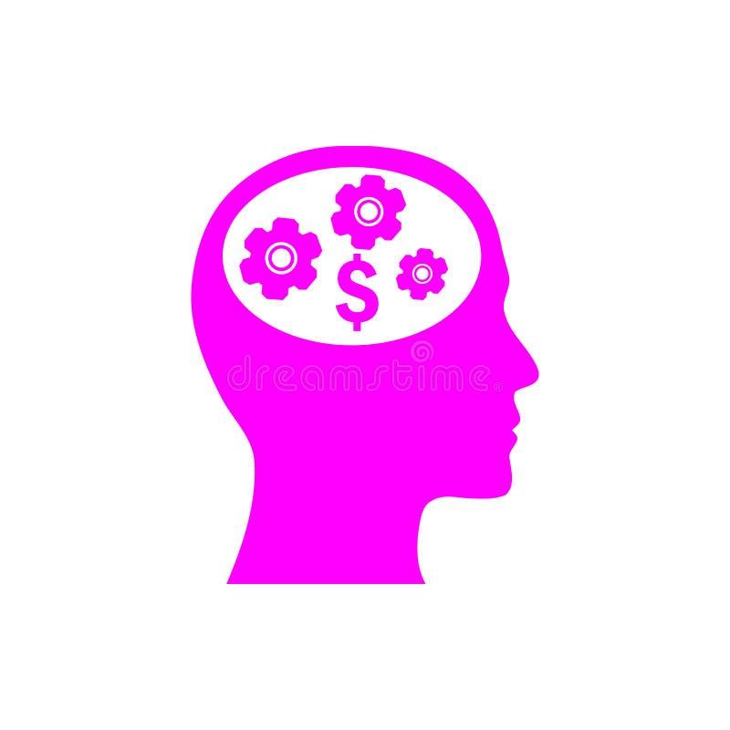negócio, para tornar-se, ajustando-se, inovação, ícone magenta da cor da gestão criativa da ideia ilustração do vetor