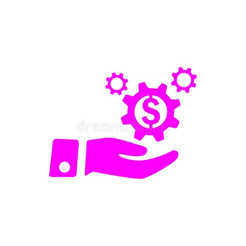negócio, para tornar-se, ajustando-se, inovação, ícone magenta da cor da gestão criativa da ideia ilustração royalty free