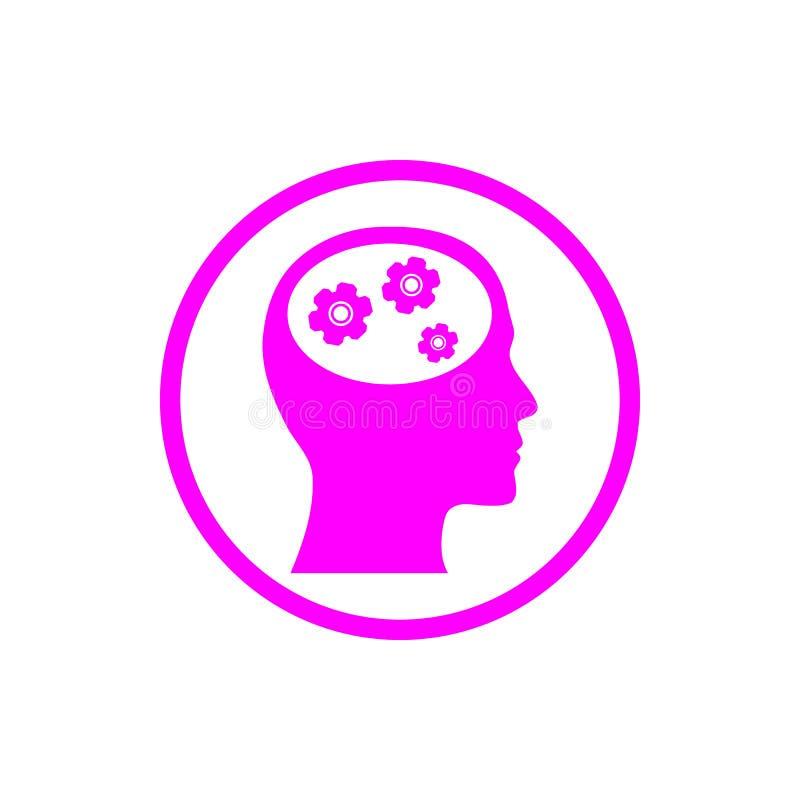 negócio, para tornar-se, ajustando-se, inovação, ícone magenta da cor da gestão criativa da ideia ilustração stock
