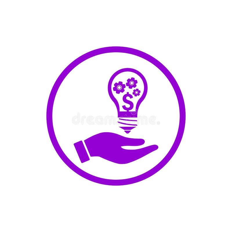negócio, para tornar-se, ajustando-se, inovação, ícone violeta escuro da cor da gestão criativa da ideia ilustração do vetor