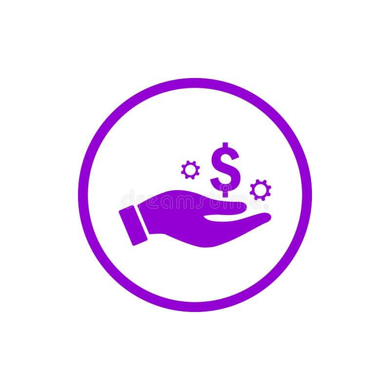 negócio, para tornar-se, ajustando-se, inovação, ícone violeta escuro da cor da gestão criativa da ideia ilustração stock
