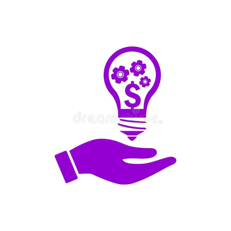 negócio, para tornar-se, ajustando-se, inovação, ícone violeta escuro da cor da gestão criativa da ideia ilustração royalty free