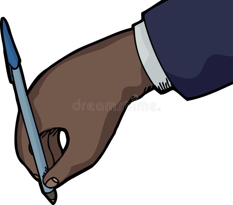 Negócio Person Writing ilustração do vetor