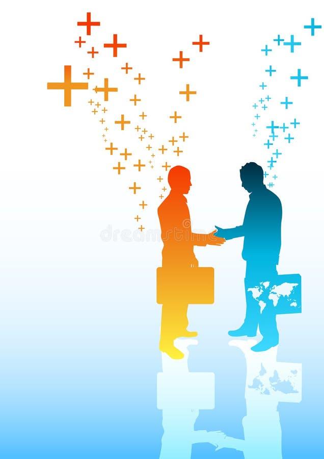 Negócio positivo ilustração royalty free