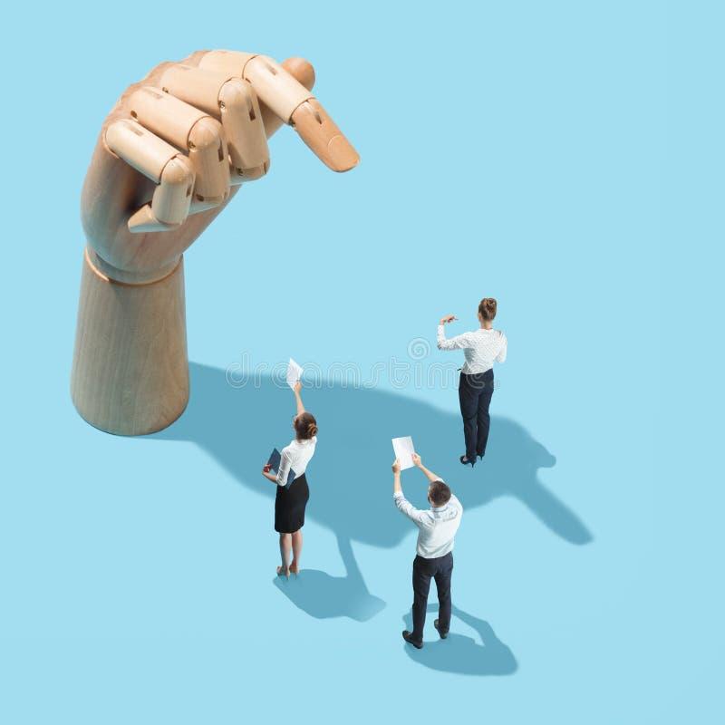 Negócio, recrutamento, conceito do departamento de recursos humanos imagens de stock