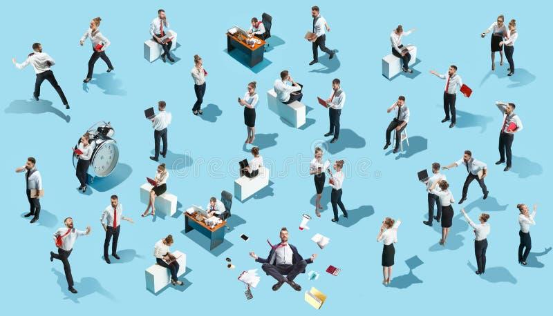 Negócio, recrutamento, conceito do departamento de recursos humanos na colagem criativa foto de stock royalty free
